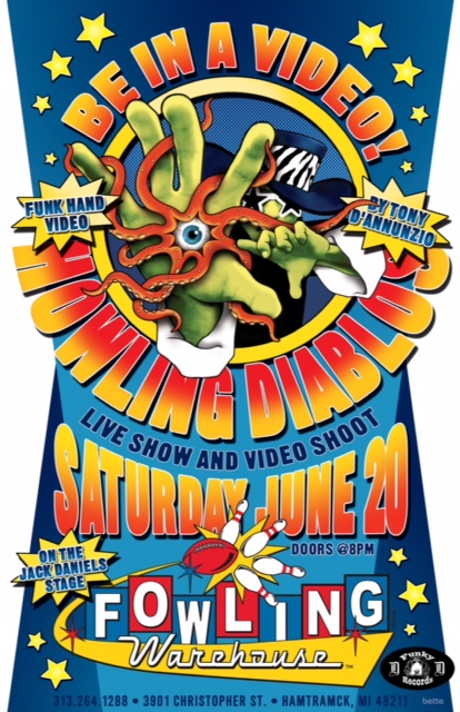 Saturday, June 20th, Howling Diablos - Be In A Video! at the Fowling Warehouse